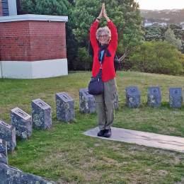 Sundial of Human Involvement at Wellington Botanical Gardens