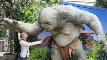 Life-size troll model outside Weta Cave Workshop
