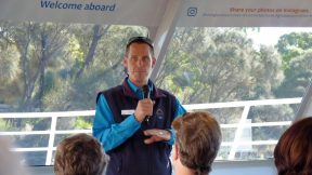 Wineglass Bay Cruises safety briefing before four hour tour