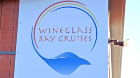 Wineglass Bay Cruises sign in Freycinet