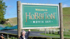 Hobbiton Movie Set Welcome sign