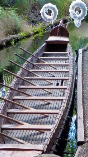 Tamaki Maori Village canoe