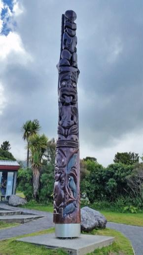 Taranaki's Egmont National Park - Maori carving