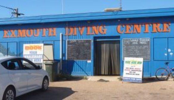 Exmouth Diving Centre shop entrance