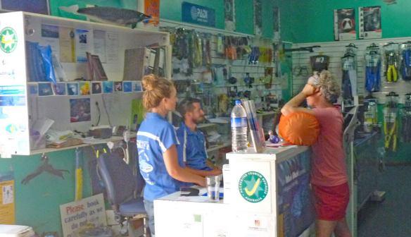 Exmouth Diving Centre shop interior