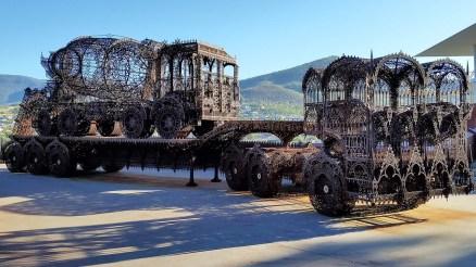 MONA Museum in Hobart Tasmania - laser-cut steel trucks by Wym Delvoye 2007
