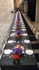MONA Museum in Hobart Tasmania - Wedding dinner table setting