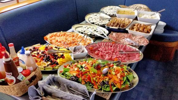 Buffet lunch aboard Spirit of Freedom