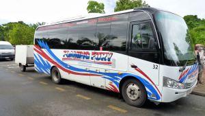 Foaming Fury tour bus