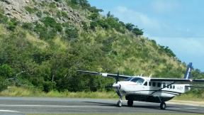 Taking off from Lizard Island, bound for Cairns