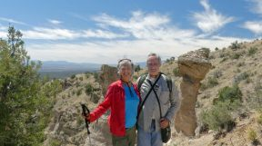 Summit of Tent Rocks' Canyon Trail