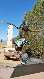Sculpture of Valentino Tzigiwhaeno Riveria by his father George Rivera