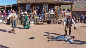 Shootout re-enactment in Goldfield Ghost Town on the Apache Trail