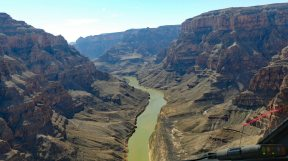 Grand Canyon West - flying upriver