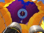 Hot Air Expeditions - Looking up into the balloon