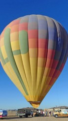 Hot Air Expeditions of Phoenix-the balloon is fully inflated, and passengers on ready to board