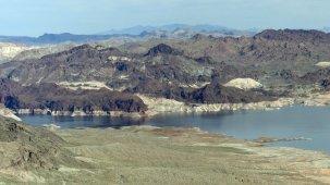 Lake Mead and surrounding terrain