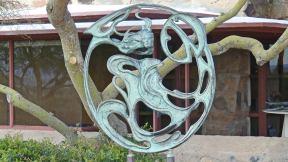 Phoenix area - Taliesin West - Heloise Crista sculpture Solar Wind