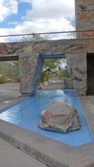 Taliesin West - Water fountain, angles and local materials
