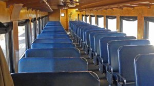 Basic Coach class seating on Verde Canyon Railroad