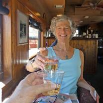 Champagne toast to start Verde Canyon Railroad train ride