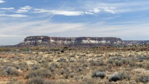 Corn Mesa seen from the Zuni Pueblo, also called Dowa Yalanne