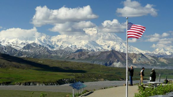 Eielson Visitor Center, mile 66 in the park, with Denali Mountain in the background