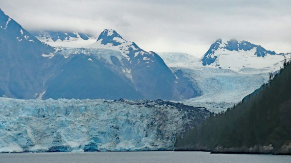 Terminus of Meares Glacier and the flow behind it.