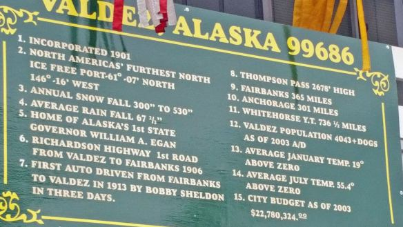 Historic facts about Valdez Alaska