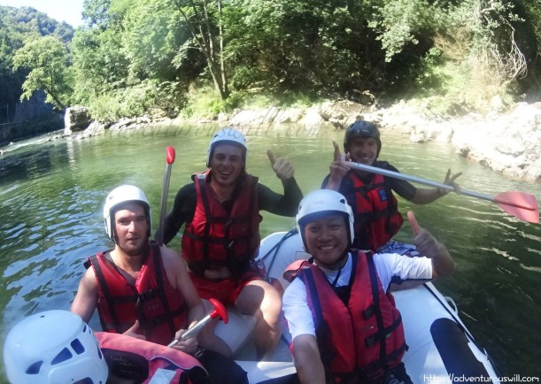 White Water Rafting with Arnaud and Bradley