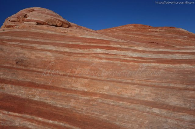 Striped layers of rock