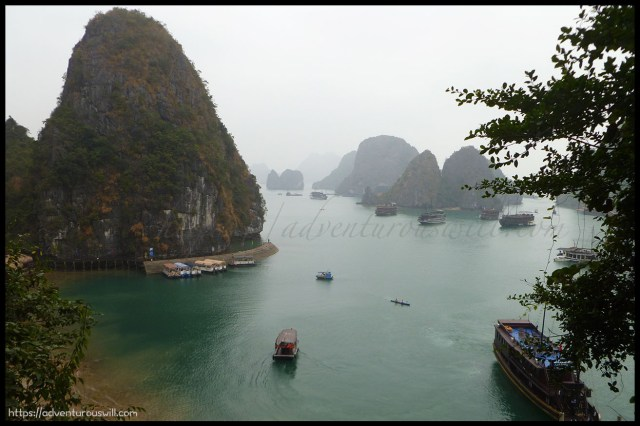 Limestone cliffs of Ha Long Bay