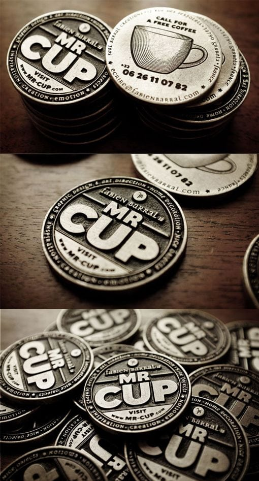 25 impressive metal business cards for inspiration metal business cards inspiration 1 round coin shaped colourmoves