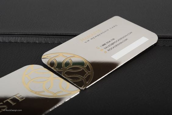25 impressive metal business cards for inspiration metal business cards inspiration luxury minimalist reheart Gallery