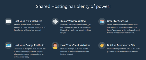 Hosting Features - Dreamhost