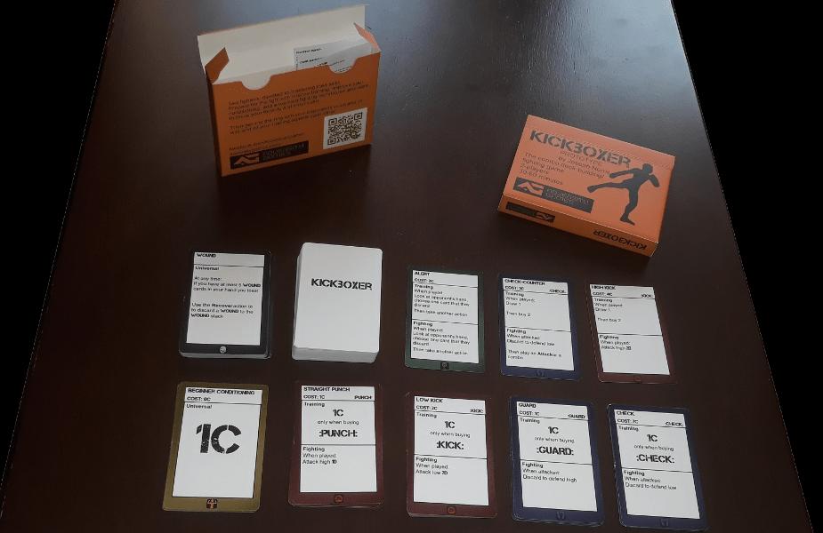 indie game dev kickboxer card game tabletop