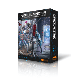 nightlancer board game cyberpunk scifi dystopia