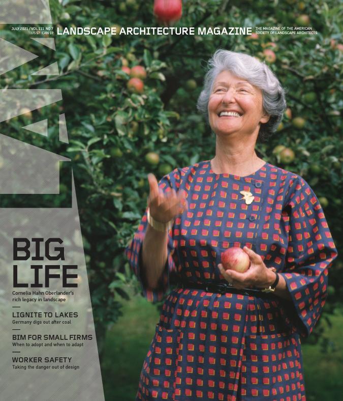《景观建筑》杂志,2021年7月