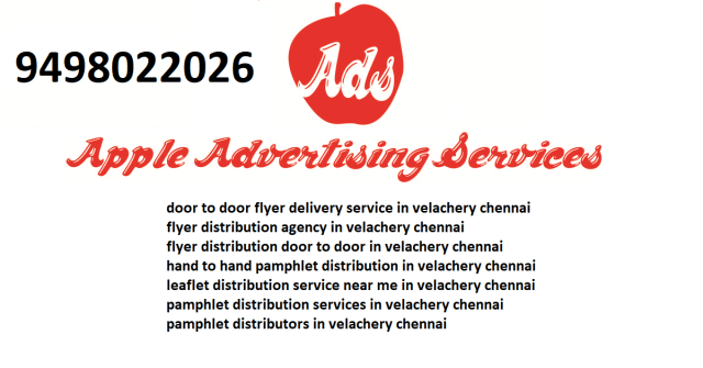 flyer distribution agency in velachery chennai