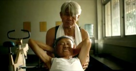"Taiwan's TC Bank television commercial ""Dream Rangers"": Elderly men doing sit ups."