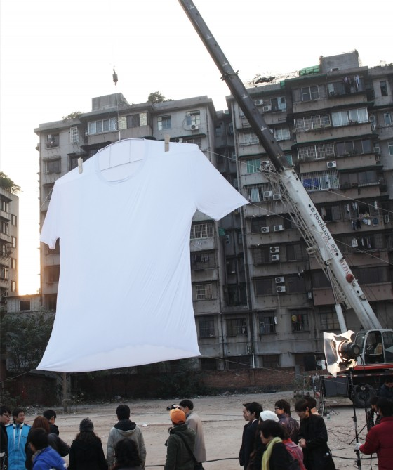 The world's biggest t-shirt?