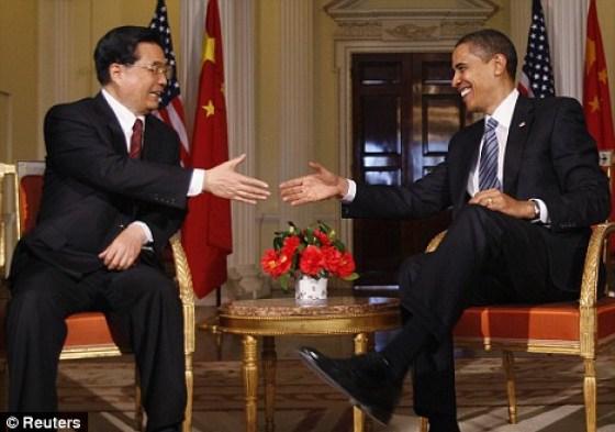 Barack Obama and Hu Jintao