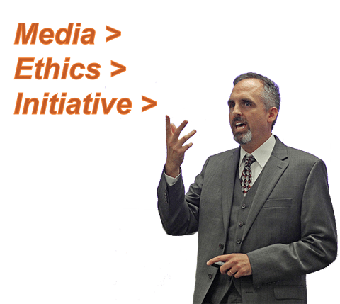 The Media Ethics Initiative started by Dr. Scott Stroud (Communication Studies) aims to highlight the choices, consequences, and values involved in our communicative activities.