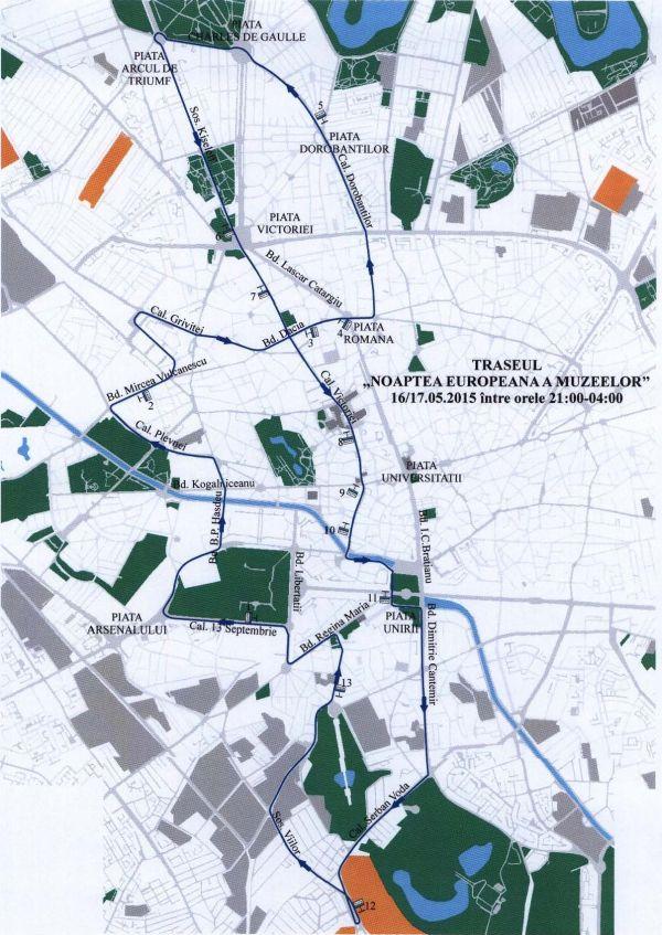 Noaptea Europeană a Muzeelor 2015 Traseu RATB