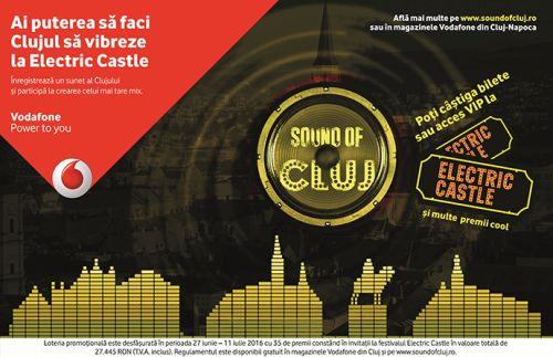 Vodafone lansează melodia Clujului la Festivalul Electric Castle