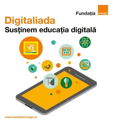 """Au fost desemnați câștigătorii #Digitaliada, concurs de materiale digitale educaționale care încurajează crearea de conținut original și open source care poate fi utilizat în procesul de învățare. Concursul are loc anual și se adresează în principal cadrelor didactice din orice școală din România, dar și tuturor persoanelor de peste 18 ani interesate să creeze și să distribuie publicului larg materiale didactice în format digital, ce pot fi folosite în predarea oricărei discipline școlare din ciclul gimnazial. Juriul care a ales câștigătorii a fost format din: Prof. dr. univ. Radu Gologan, Președinte al Societății Române de Matematică și coordonator al Lotului olimpic de matematică (Președintele juriului); Prof. dr. univ. Dragoș Ciuparu, profesor universitar la Facultatea de Tehnologia Petrolului şi Petrochimie din cadrul Universităţii Petrol – Gaze din Ploieşti; Dr. Ciprian Fartușnic, director general, Institutul de Științe ale Educației; Stelian Muscalu, redactor prezentator al emisiunii Business Club, Digi 24; Amalia Fodor, director executiv Fundația Orange. Premiul I (laptop şi cameră foto) a fost câștigat de Rareș Tohănean, cu materialul """"Lecții video introductive în matematica de clasa a V-a"""". Premiul II (laptop) a revenit Didinei Botgros, profesor la Școala Gimnazială Sf. Varvara, din Aninoasa, jud. Hunedoara, pentru materialul """"Universul"""" - Geografie. Premiul al III-lea (cameră foto) a fost acordat lui Constantin Ferșeta pentru aplicația """"Kidibot"""", un material multidisciplinar care îmbină Limba Română și T.I.C. Au mai primit mențiuni (tabletă): Sorin Borodi, profesor la Liceul Teoretic Dej, jud. Cluj, pentru materialul """"Teorema fundamentală a asemănării""""; Tiberiu Lukacs, profesor la Școala Gimnazială Sf. Varvara din Aninoasa, jud. Hunedoara, pentru """"Teorema celor 3 perpendiculare""""; Gabriela-Violeta Tănăsescu, profesor la Liceul Teoretic din Constanța, pentru """"3, 2, 1… Start către planeta Marte! V 2.0""""; Elena Buric, profesor la Colegiul Dobrogean din Tulcea, """