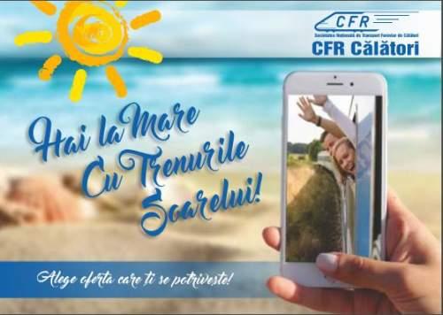 Programul estival la CFR - Trenurile Soarelui 2017