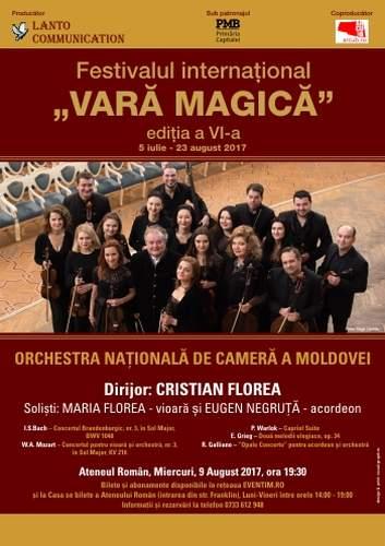 Orchestra Națională de Cameră a Moldovei la Ateneul Român în Vara magică