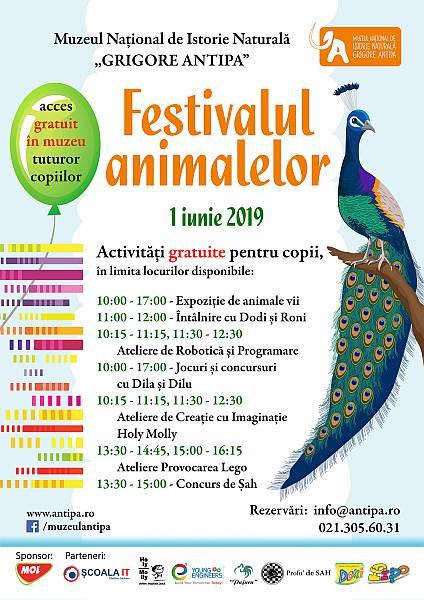 Festivalul animalelor de 1 iunie la Muzeul Antipa