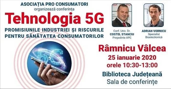 25 ianuarie - Ziua mondială de protest împotriva implementării tehnologiei de comunicații wireless 5G!